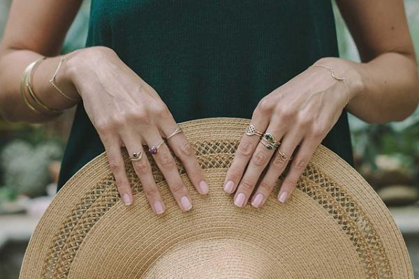 boho style gold jewelry