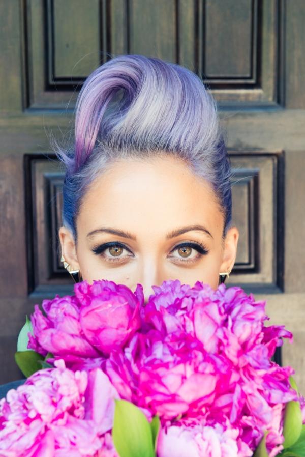 nicole richie purple hair boho chic